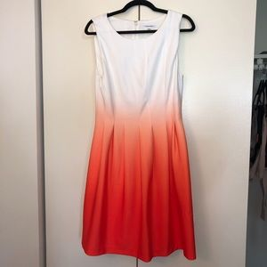 Calvin Klein Sorbet ombré sleeveless dress